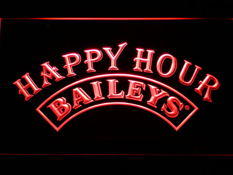 Baileys Happy Hour LED Neon Sign - Red - SafeSpecial