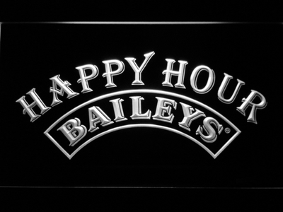 Baileys Happy Hour LED Neon Sign - White - SafeSpecial