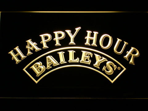 Image of Baileys Happy Hour LED Neon Sign - Yellow - SafeSpecial