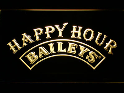 Baileys Happy Hour LED Neon Sign - Yellow - SafeSpecial