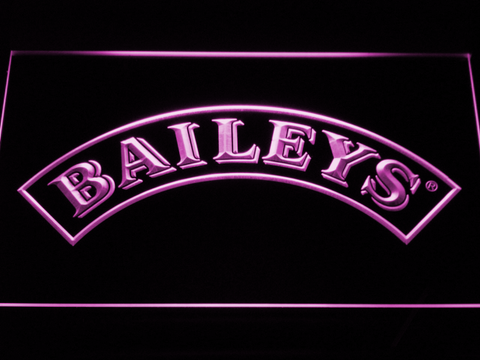 Baileys LED Neon Sign - Purple - SafeSpecial