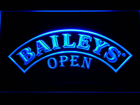 Baileys Open LED Neon Sign - Blue - SafeSpecial