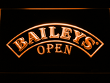 Baileys Open LED Neon Sign - Orange - SafeSpecial