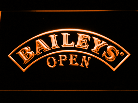 Image of Baileys Open LED Neon Sign - Orange - SafeSpecial