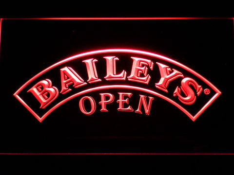 Baileys Open LED Neon Sign - Red - SafeSpecial