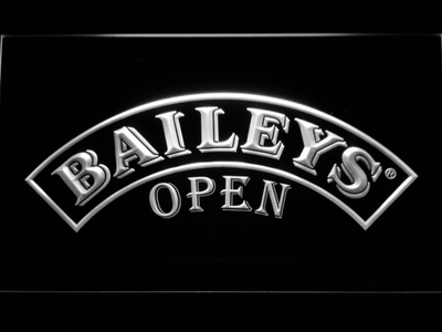 Baileys Open LED Neon Sign - White - SafeSpecial