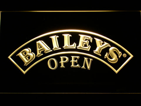 Image of Baileys Open LED Neon Sign - Yellow - SafeSpecial