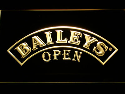 Baileys Open LED Neon Sign - Yellow - SafeSpecial