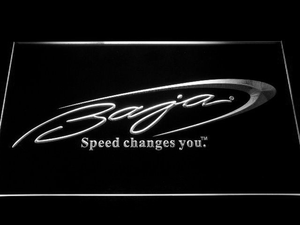 Baja LED Neon Sign - White - SafeSpecial