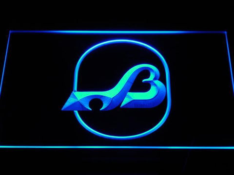 Baltimore Blades Logo LED Neon Sign - Legacy Edition - Blue - SafeSpecial