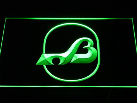 Baltimore Blades Logo LED Neon Sign - Legacy Edition - Green - SafeSpecial