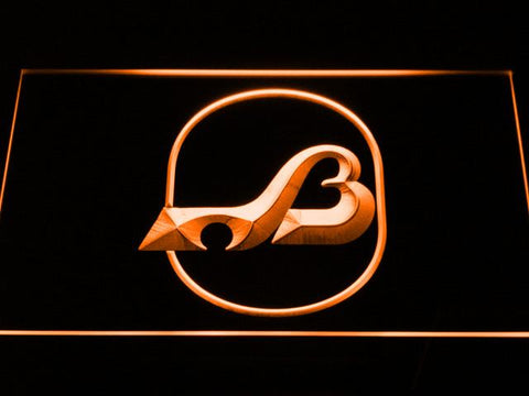 Baltimore Blades Logo LED Neon Sign - Legacy Edition - Orange - SafeSpecial