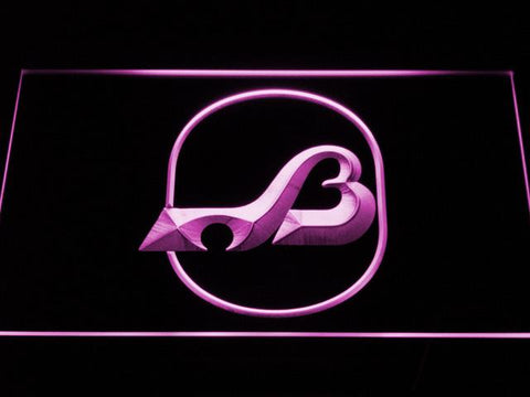 Baltimore Blades Logo LED Neon Sign - Legacy Edition - Purple - SafeSpecial