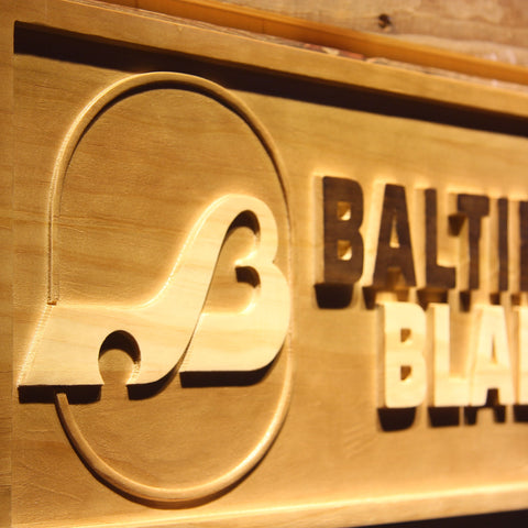 Baltimore Blades Wooden Sign - Legacy Edition - - SafeSpecial