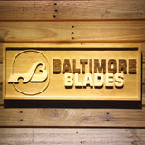 Baltimore Blades Wooden Sign - Legacy Edition - Small - SafeSpecial