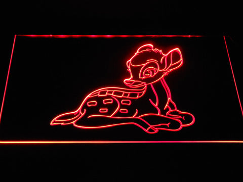 Bambi LED Neon Sign - Red - SafeSpecial
