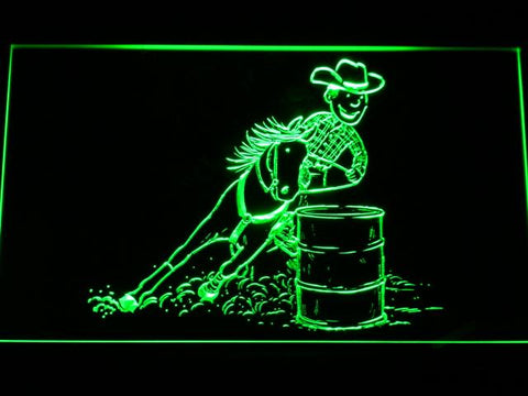 Barrel Racing 1 LED Neon Sign - Green - SafeSpecial
