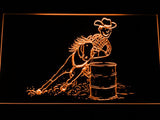 Barrel Racing 1 LED Neon Sign - Orange - SafeSpecial