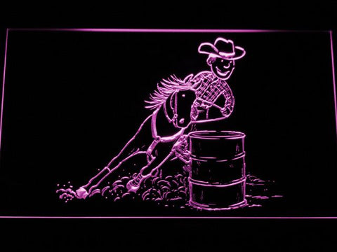 Barrel Racing 1 LED Neon Sign - Purple - SafeSpecial