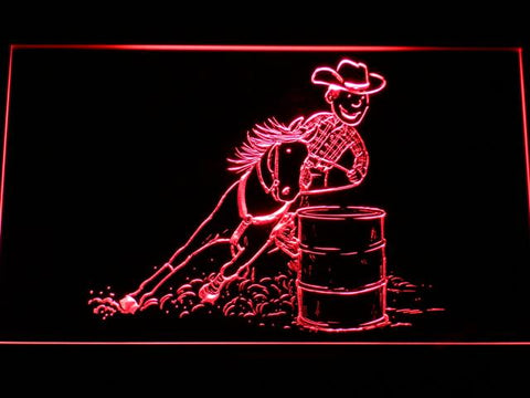 Barrel Racing 1 LED Neon Sign - Red - SafeSpecial