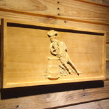 Barrel Racing 1 Wooden Sign - - SafeSpecial