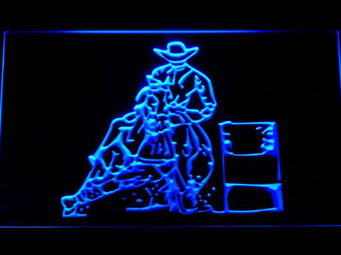 Barrel Racing 2 LED Neon Sign - Blue - SafeSpecial
