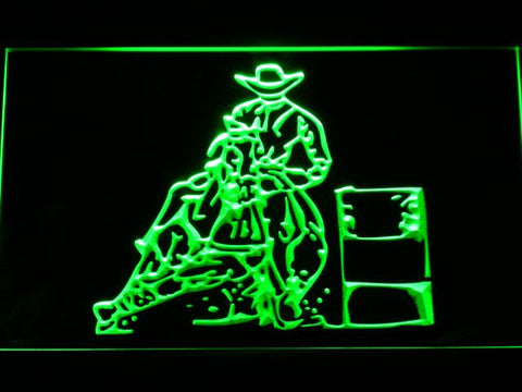 Barrel Racing 2 LED Neon Sign - Green - SafeSpecial