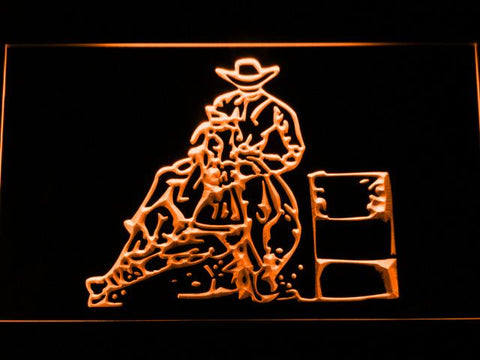 Barrel Racing 2 LED Neon Sign - Orange - SafeSpecial