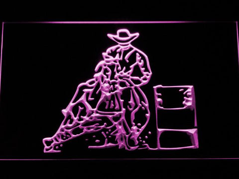 Barrel Racing 2 LED Neon Sign - Purple - SafeSpecial