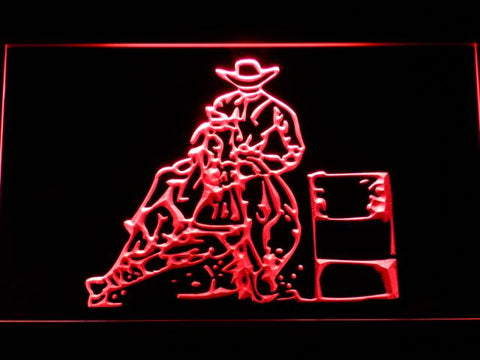 Barrel Racing 2 LED Neon Sign - Red - SafeSpecial