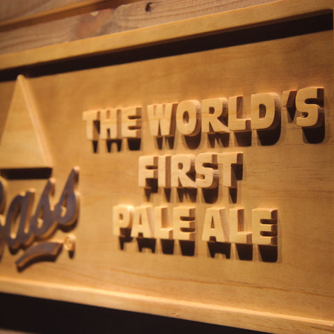 Bass First Pale Ale Wooden Sign - - SafeSpecial