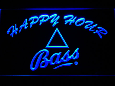 Bass Happy Hour LED Neon Sign - Blue - SafeSpecial