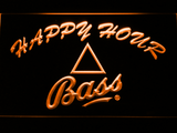 Bass Happy Hour LED Neon Sign - Orange - SafeSpecial