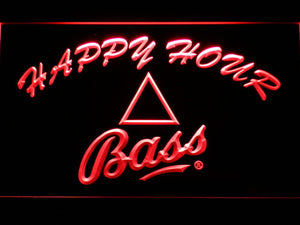 Bass Happy Hour LED Neon Sign - Red - SafeSpecial