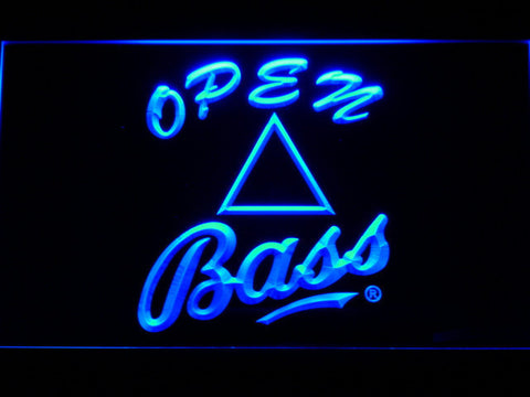 Bass Open LED Neon Sign - Blue - SafeSpecial