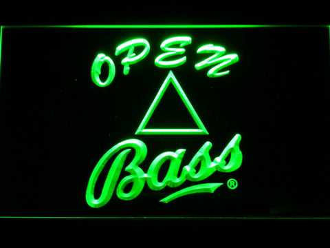 Bass Open LED Neon Sign - Green - SafeSpecial