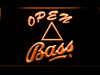 Bass Open LED Neon Sign - Orange - SafeSpecial