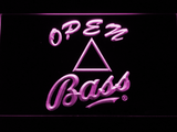 Bass Open LED Neon Sign - Purple - SafeSpecial