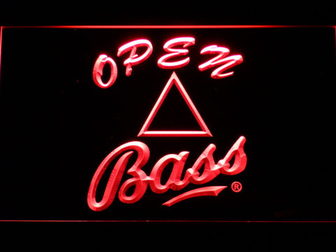 Bass Open LED Neon Sign - Red - SafeSpecial