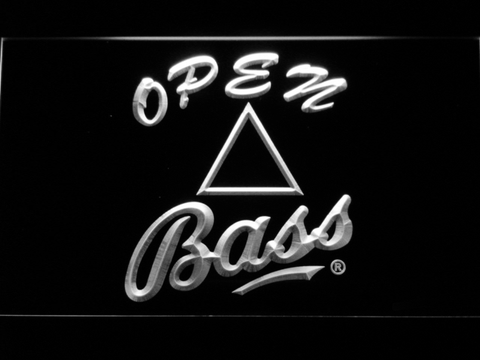 Bass Open LED Neon Sign - White - SafeSpecial