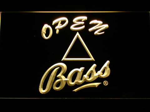 Bass Open LED Neon Sign - Yellow - SafeSpecial