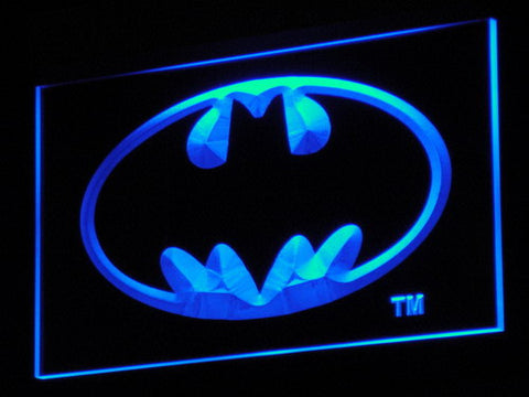 Batman LED Neon Sign - Blue - SafeSpecial