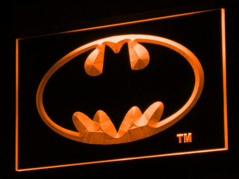 Batman LED Neon Sign - Orange - SafeSpecial