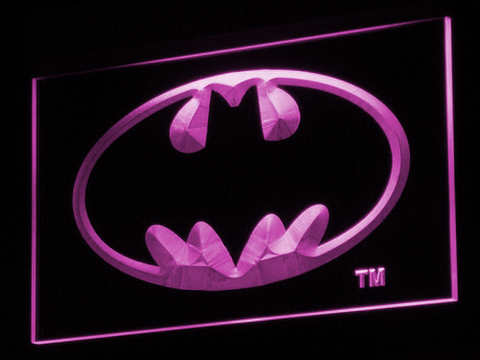 Batman LED Neon Sign - Purple - SafeSpecial