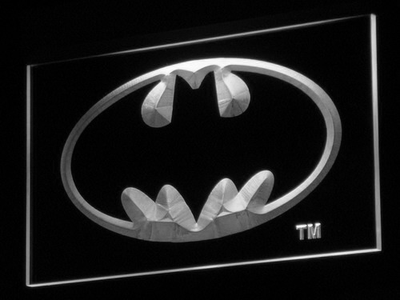 Batman LED Neon Sign - White - SafeSpecial