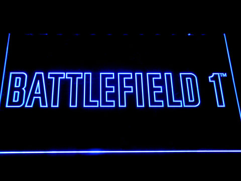 Battlefield 1 LED Neon Sign - Blue - SafeSpecial