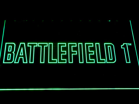 Battlefield 1 LED Neon Sign - Green - SafeSpecial