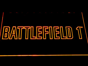 Battlefield 1 LED Neon Sign - Orange - SafeSpecial