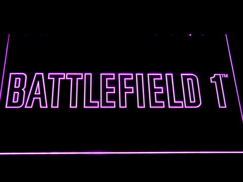 Battlefield 1 LED Neon Sign - Purple - SafeSpecial