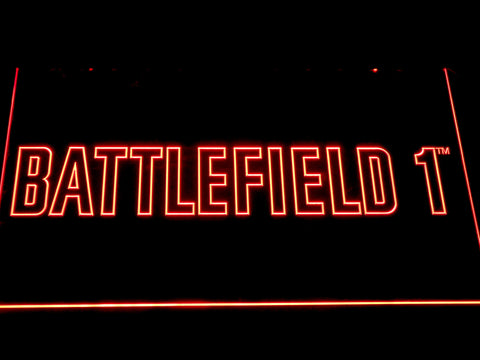 Battlefield 1 LED Neon Sign - Red - SafeSpecial